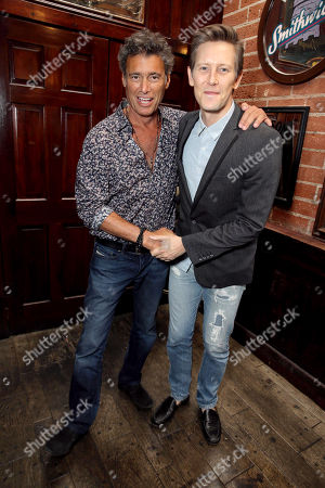 "Stock Photo of Steven Bauer and Gabriel Mann seen at Showtime Drama Series ""Ray Donovan"" Premiere Night Viewing Party at O'Brien's Irish Pub & Restaurant, in Santa Monica, Calif"