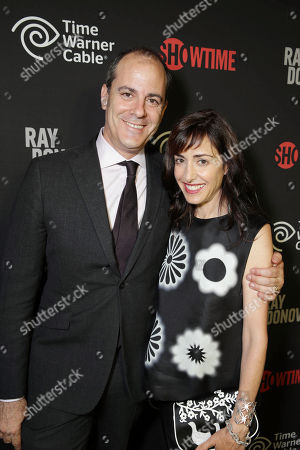 EXCLUSIVE CONTENT - PREMIUM RATES APPLY David Nevins (PRESIDENT OF ENTERTAINMENT, SHOWTIME NETWORKS INC.) and wife Andrea Nevins at the Showtime Premiere of the New Drama Series Ray Donovan presented by Time Warner Cable, on Tuesday, June, 25, 2013 in Los Angeles