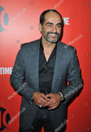 Stock Photo of David Negahban arrives at the Showtime Primetime Emmy's Eve Party at the Sunset Tower on in Los Angeles
