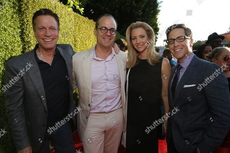 Don Roos, David Nevins, President of Entertainment, Showtime Networks, Lisa Kudrow and Dan Bucatinsky seen at Showtime's Annual Summer Soiree at 2014 TCA at the Pacific Design Center, in Los Angeles