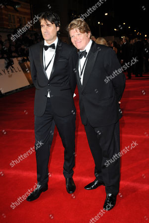 Neal Purvis, Robert Wade arrives at the world premiere of Skyfall James Bond 007 at the Royal Albert Hall on in London