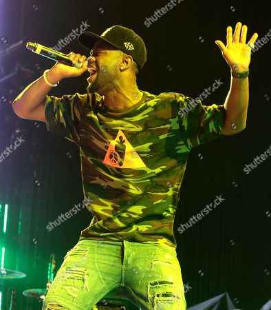 Rapper Casey Veggies performs in concert as the opening act for Snoop Dogg and Wiz Khalifa during their The High Road Tour at the BB&T Pavilion, in Camden, N.J