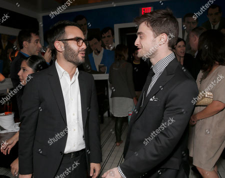 """Writer/producer/director John Krokidas (L) and Daniel Radcliffe attend the party for Sony Pictures Classics Los Angeles Premiere of """"Kill Your Darlings"""" Presented by Blue Moon Brewing Company at Caufield's on in Los Angeles"""