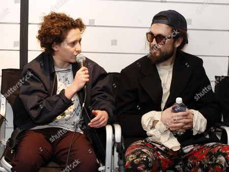 Mica Levi and Alex Ebert participated in the Sound+Vision discussion panel at Quaker Good Energy Lodge with GenArt and the Collective during Sundance 2014 on Sunday, January, 19, 2014 in Park City, Ut