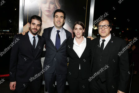 Executive producer Matthew Budman, producer Jonathan Gordon, producer Megan Ellison and producer/director/writer David O. Russell seen at the special screening of Columbia Pictures and Annapurna Pictures of American Hustle, on in Los Angeles