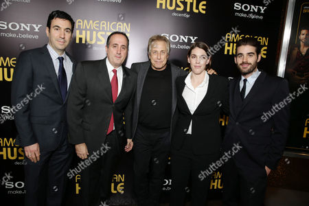 Producers Jonathan Gordon, Richard Suckle, Charles Roven, Megan Ellison and executive producer Matthew Budman seen at the special screening of Columbia Pictures and Annapurna Pictures of American Hustle, on in Los Angeles