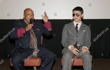 "Quincy Jones and Justin Kauflin attend a Special Screening of Radius-TWC's ""Keep on Keepin' On"" at iPic Westwood 6 on in Westwood, Calif"