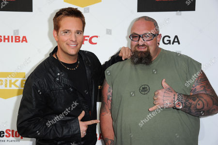 "Allen Lee Haff, left, and Clinton ""Ton"" Jones arrive at Spike's 10th Annual Video Game Awards at Sony Studios, in Culver City, Calif"