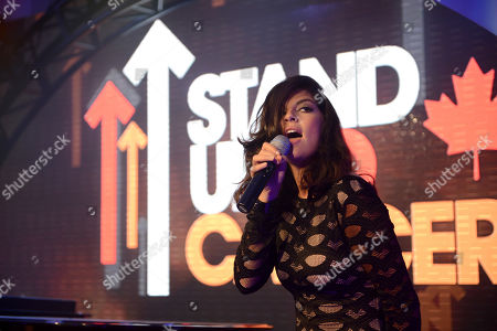 Nikki Yanofsky performs at Stand Up To Cancer Canada, in Toronto