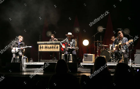 Stock Photo of Bear Rinehart, Bo Rinehart, Seth Bolt and Josh Lovelace with NEEDTOBREATHE performs during the Star 94 Jingle Jam 2015 at the Fox Theatre, in Atlanta