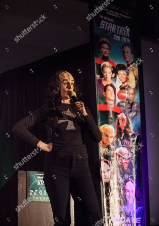 Stock Image of Actor Suzie Plakson during the Creation Entertainment's Official Star Trek Convention at The Westin O'Hare, on in Rosemont, IL