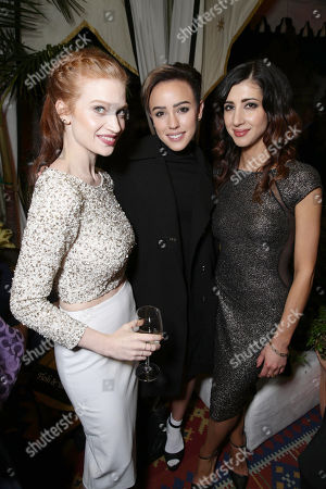 Sarah Hay, Raychel Diane Weiner and Dana DeLorenzo seen at Starz Pre- Golden Globes Celebration at Chateau Marmont, in Los Angeles, CA