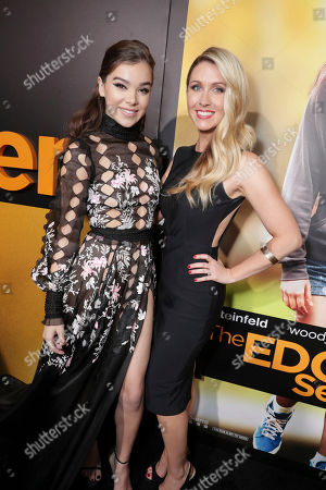 """Hailee Steinfeld and Writer/Director Kelly Fremon Craig seen at STX Entertainment Special Screening of """"The Edge of Seventeen"""" at the Regal LA LIVE, in Los Angeles"""