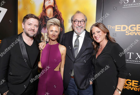 "Composer Atli Orvarsson, Anna Orvarsson, Producer James L. Brooks and Cathy Schulman, President of Production, STX Entertainment, seen at STX Entertainment Special Screening of ""The Edge of Seventeen"" at the Regal LA LIVE, in Los Angeles"
