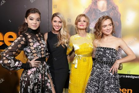 """Hailee Steinfeld, Writer/Director Kelly Fremon Craig, Kyra Sedgwick and Haley Lu Richardson seen at STX Entertainment Special Screening of """"The Edge of Seventeen"""" at the Regal LA LIVE, in Los Angeles"""