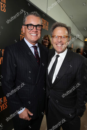 Stuart Ford, Founder & Chief Executive Officer of IM Global, and Producer Mark Johnson seen at STX Entertainment's 'Secret In Their Eyes' Premiere at Hammer Museum, in Los Angeles, CA