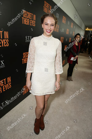 Zoe Graham seen at STX Entertainment's 'Secret In Their Eyes' Premiere at Hammer Museum, in Los Angeles, CA