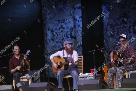 Luther Dickinson, Marc Broussard, JJ Grey (L-R), of Southern Soul Assembly performs at the Suwannee Springfest at the Spirit of Suwannee Music Park, on in Live Oak, Florida