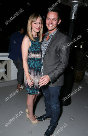 Stephanie Drake and guest seen at Tart Collections Penthouse Party at the Chateau Marmont, on Wednesday, Oct., 15, 2013 in Los Angeles