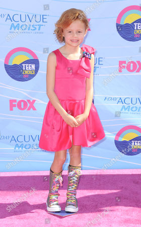 Maggie Elizabeth Jones arrives at the Teen Choice Awards, in Universal City, Calif
