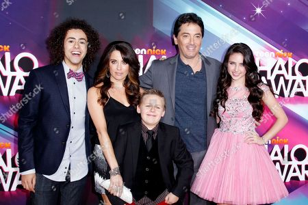 Actors Ramy Youssef, Alanna Ubach, Scott Baio, Ryan Newman and Jackson Brundage arrive at the TeenNick HALO Awards at the Hollywood Palladium, in Los Angeles