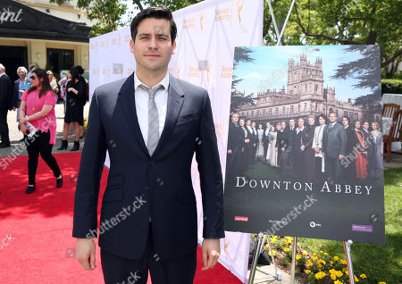 """Actor Robert James-Collier arrives at An Afternoon with """"Downton Abbey"""" presented by the Television Academy at Paramount Studios, in Los Angeles"""