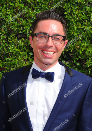 James Pearse Connelly arrives at the Television Academy's Creative Arts Emmy Awards at Microsoft Theater, in Los Angeles