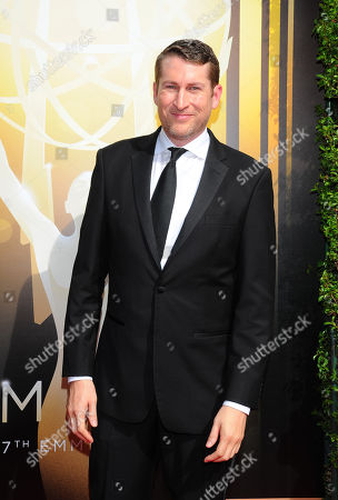 Scott Aukerman arrives at the Television Academy's Creative Arts Emmy Awards at Microsoft Theater, in Los Angeles
