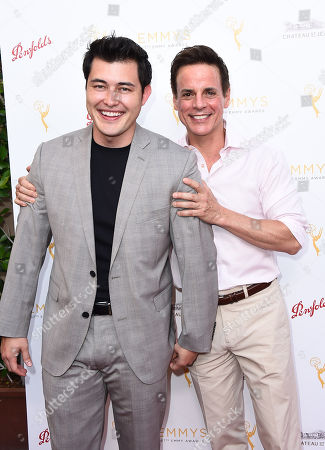 Christopher Sean and Christian LeBlanc arrive at the Television Academy's 67th Emmy Performance Peer Group Celebration at the Montage Beverly Hills on in Beverly Hills, Calif
