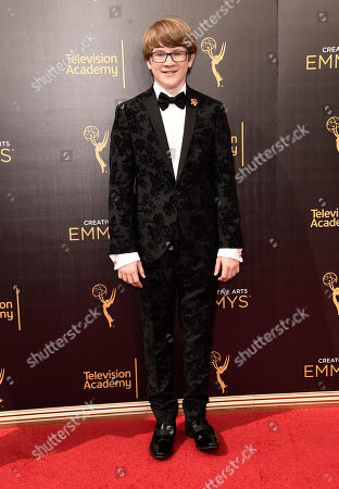 Aidan Miner arrives at night one of the Television Academy's 2016 Creative Arts Emmy Awards at the Microsoft Theater on in Los Angeles