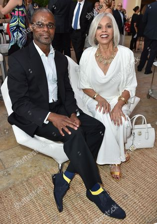 Delton Henderson, left, and Lynne Moody attends the Television Academy's Performers Emmy Celebration at the Montage Beverly Hills on
