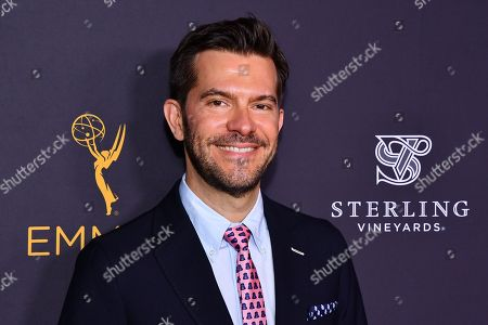 Peter Huyck is seen at the Television Academy's 2016 Emmy Awards Writer's Nominee Reception at The Television Academy's Wolf Theatre on in North Hollywood, California