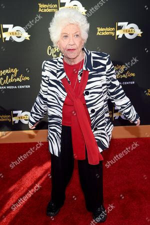Charlotte Rae arrives at the Television Academy's 70th Anniversary Gala and Opening Celebration for its new Saban Media Center, in the NoHo Arts District in Los Angeles