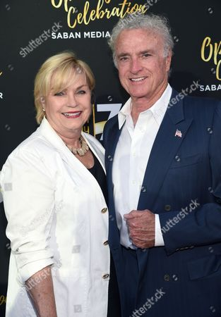 Kevin Dobson, right, and Susan Dobson arrive at the Television Academy's 70th Anniversary Gala and Opening Celebration for its new Saban Media Center, in the NoHo Arts District in Los Angeles
