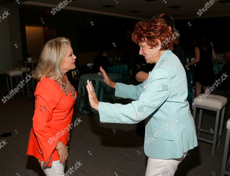 Charlene Tilton, left, and Marion Ross attend the Television Academyâ?™s 70th Anniversary Gala and Opening Celebration for its new Saban Media Center, in the NoHo Arts District in Los Angeles