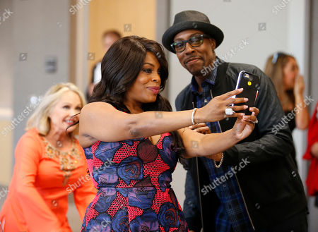 Stock Image of Charlene Tilton, from left, Niecy Nash, and Arsenio Hall attend the Television Academyâ?™s 70th Anniversary Gala and Opening Celebration for its new Saban Media Center, in the NoHo Arts District in Los Angeles