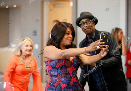 Stock Photo of Charlene Tilton, from left, Niecy Nash, and Arsenio Hall attend the Television Academy's 70th Anniversary Gala and Opening Celebration for its new Saban Media Center, in the NoHo Arts District in Los Angeles
