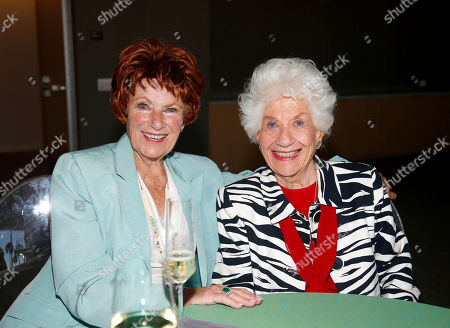 Marion Ross, left, and Charlotte Rae attend the Television Academy's 70th Anniversary Gala and Opening Celebration for its new Saban Media Center, in the NoHo Arts District in Los Angeles
