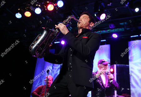 Dave Koz, left, and Mike Love perform at The Society of Singers' 21st ELLA Awards on in Beverly Hills, Calif. The event honored Mike Love, lead singer and co-founder of The Beach Boys, producer Nigel Lythgoe, and backup singers The Waters Family