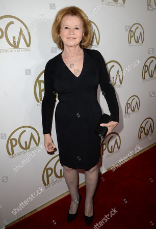 Letty Aronson arrives at the 25th annual Producers Guild of America (PGA) Awards at the Beverly Hilton Hotel, in Beverly Hills, Calif