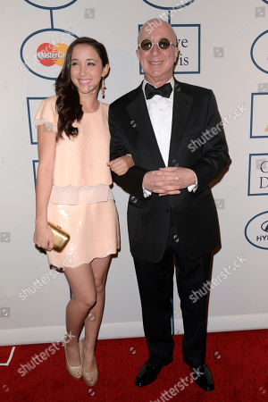 Stock Picture of Paul Shaffer, right, and Victoria Lily Shaffer arrive at the 56th annual GRAMMY awards - salute to industry icons with Clive Davis,, in Beverly Hills, Calif