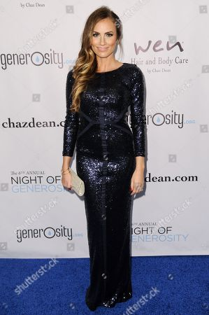Angela Stacy Lanter arrives at The 6th Annual Night Of Generosity Benefit, in Beverly Hills, Calif
