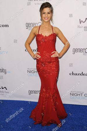 Marielle Jaffe arrives at The 6th Annual Night Of Generosity Benefit, in Beverly Hills, Calif