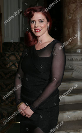 Stock Image of Alice Palmer arrives at the 8th Annual Scottish Fashion Awards 2013 dinner, celebrating Scotland's fashion talent, at Dover House, in central London, as part of a Scottish fashion invasion of London