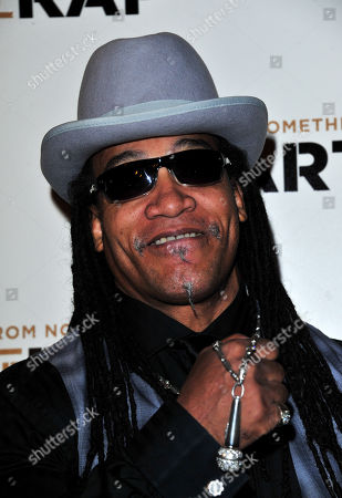 Melle Mel poses at The Art of Rap World Premiere at Hammersmith Apollo on in London