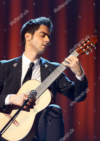 Milos Karadaglic performs at the Royal Albert Hall for the Classical BRIT Awards on in London, UK