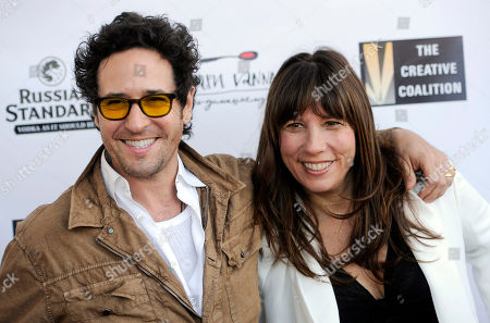 Actor Rob Morrow poses with The Creative Coalition CEO Robin Bronk at The Creative Coalition's Annual Summer Soiree at Mari Vanna, in Los Angeles