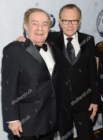 Stock Photo of Freddie Roman, left, and Larry King attend The Friars Foundation Gala honoring Robert De Niro and Carlos Slim at The Waldorf-Astoria Hotel, in New York