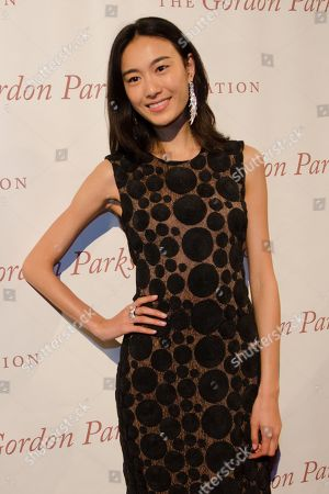 Shu Pei arrives at The Gordon Parks Foundation Awards Dinner and Auction at Cipriani's Wall Street, in New York