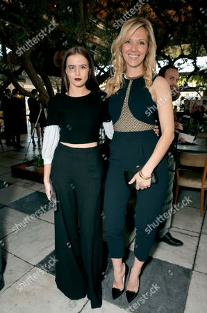 Zoey Deutch, left and Tara Swennen attend The Hollywood Reporter & Jimmy Choo Celebration of the Most Powerful Stylists in Hollywood,, in West Hollywood, Calif